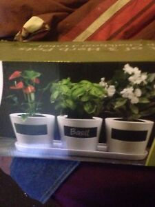 New ceramic herb pots in box Sunbury Hume Area Preview