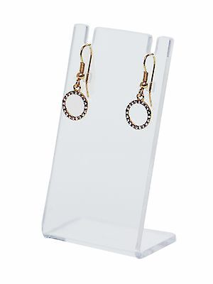 Earring And Necklace Display Stand Slant Back Clear Acrylic Showcase