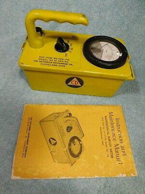 Victoreen Cdv-715 Geiger Counter Radiation Detector Meter Calibrated 1994