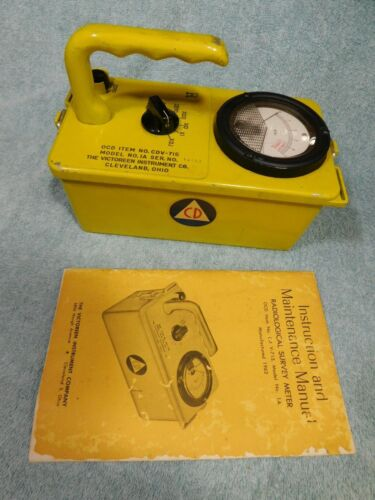 🔥 VICTOREEN CDV-715 GEIGER COUNTER RADIATION DETECTOR METER + CALIBRATED 1994