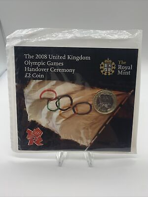 2008 OLYMPIC GAMES HANDOVER £2 TWO POUND BU COIN IN ROYAL MINT SEALED PACK  #2