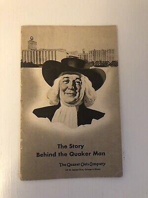 The Story Behind The Quaker Man Vintage 1940's Book