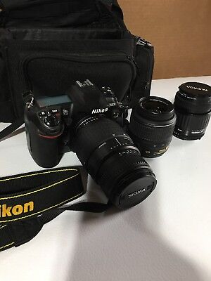 Nikon D200 10.2MP Digital SLR Camera - Bag with Nikon, Tamaron & Sigma Lenses