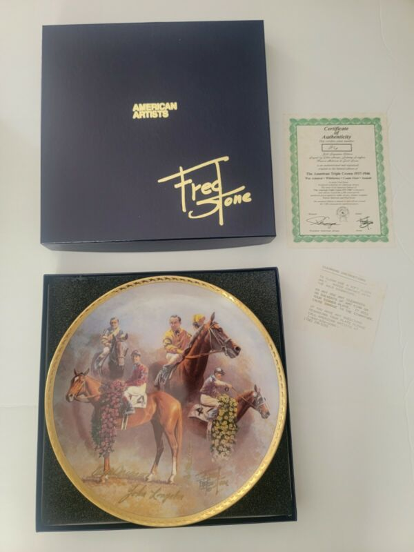 Fred Stone Plate American Triple Crown Gold Signature Plate #