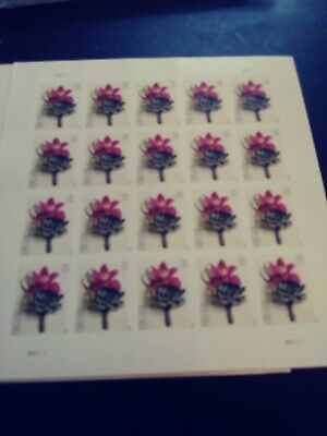 100 Flower Boutique Forever Stamps 5 Sheets of 20