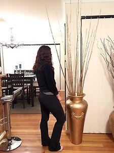 Ceramic vase/pot 80cm high in GOLD incl gold bamboo RRP $299 Balcatta Stirling Area Preview