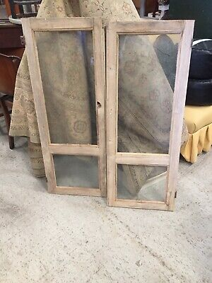 2 X Old Reclaimed Window Doors Ideal Cupboard  Upcycle Interior Decor 29/9/Z