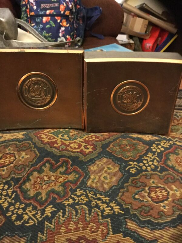 Rare Pair Antique M.I.T. Massachusetts Institute Of Technology Bookends
