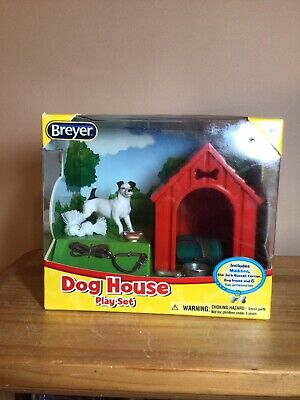Breyer Dog House Play Set Toy Stablemates Model #1508 Jack Russell Terrier NEW