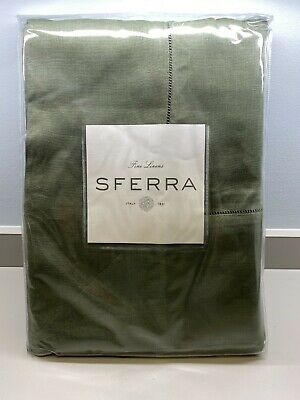 "Sferra 902 Festival Linen Table Cloth 66"" x 150"" in Color Sage"