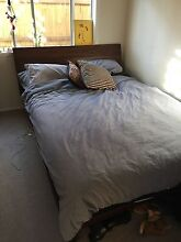 Wooden Queen bed frame and mattress Mona Vale Pittwater Area Preview