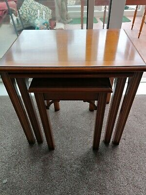 Antique Yew nest of side tables