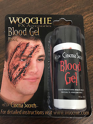 NEW: Halloween Costume, Zombie, Accessories 1 Ounce Woochie Blood Gel movies - Zombie Accessories