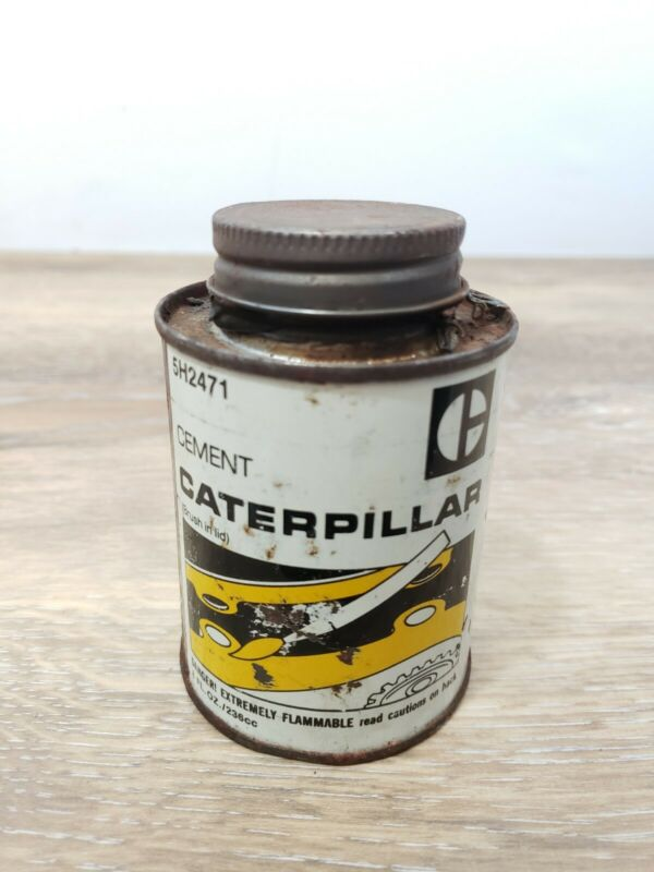 Vintage Caterpillar Tractor Co Cement Can CAT Tin Advertising