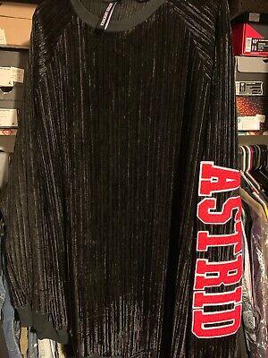 Black Astrid Andersen Men's Oversize SweatShirt W/ big RED LETTERS $430