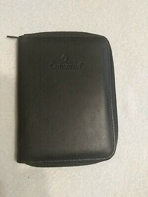 NWT Men's Samsonite Black Leather Passport Wallet