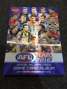 AFL Team 2016 Official Game Cards With Album
