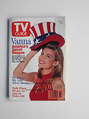 Vanna White July 3  1993 Tv Guide Magazine  Wynonna Judd