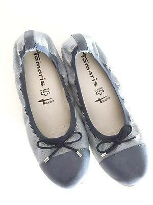 Tamaris Ballerina Blau Touch It Schuhe Gr.37