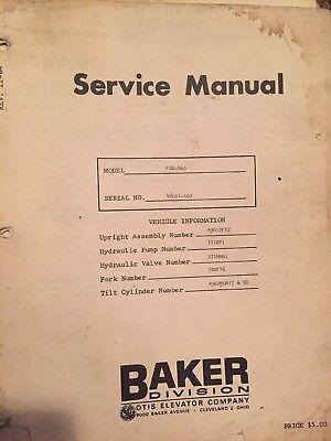 Baker Forklift Model Fgd-060 Service Parts Manual