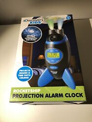 Discovery Kids Rocketship Projection Alarm Clock Used Works With Original Box