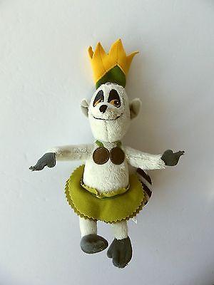 "The Penguins of Madagascar ~ King Julien ~ 8"" Stuffed Plush Animal ~"