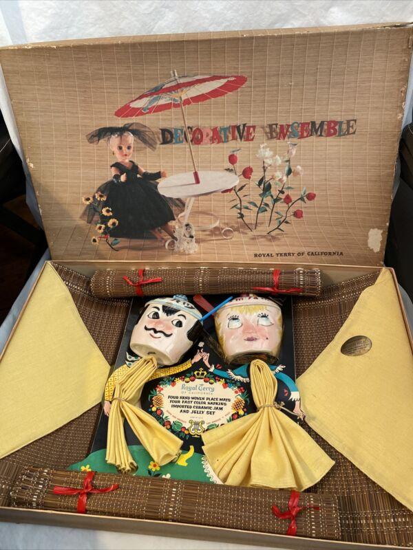 Vintage Royal Terry Of California Decorative Ensemble
