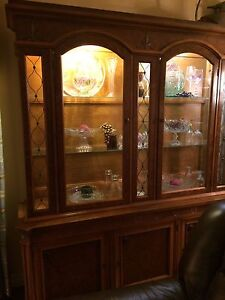 Beautiful and unique solid wood hutch