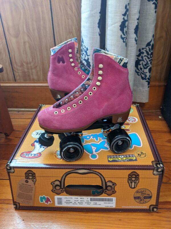 NEW DISCONTINUED  Moxi Lolly Fuchsia Roller Skates Size 5 (6-6.5 womens)