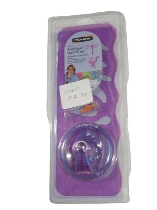 Fiskars 5 Piece Applique Starter Set Dragonfly & Butterfly Fast Shipping! (N)
