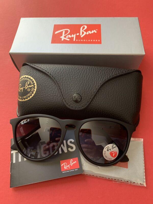 Ray-Ban Erika Sunglasses Polarized RB4171 622/8G 54mm Black Frame/Grey Gradient