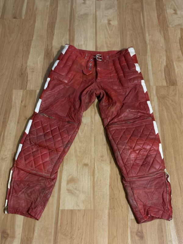 1960s Leather Racing Pants