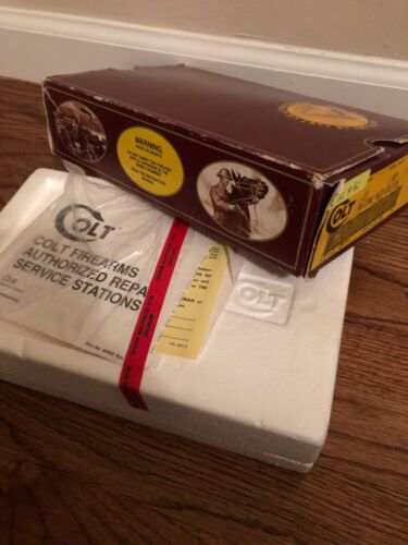 RARE! 1980's Original COLT 1911 Gold Cup STAINLESS National Match Box & Papers