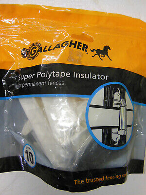 Gallagher Electric Fence Locking 1 12 Poly Tape Insulator - Livestock New