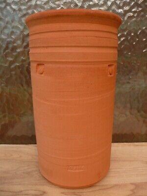 Classic Terra Cotta Pot - DAVID FRY Studio Pottery BRUSH POT Wine COOLER Red Clay VASE Stoneware NEWCASTLE