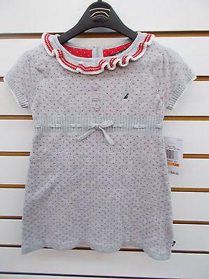 Infant & Girls Nautica $34.50 - $36.50 Gray Sweater Dress Size 12 Months - 6X