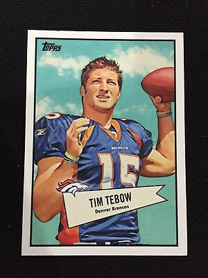 Tim Tebow Rookie Topps Insert 2010 Denver Broncos Rc  Uf Gators  Football Card