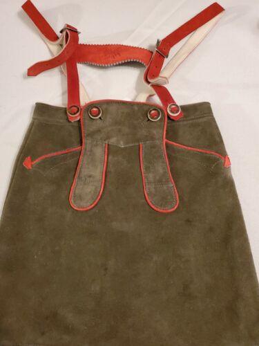 """US 1T, w.20"""",Girl,Toddler,Germany,Trachten,Leder-Rock,Leather-skirt Suspenders"""