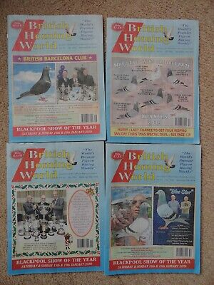 4x British Homing World racing pigeon birds magazines back issue December 2019