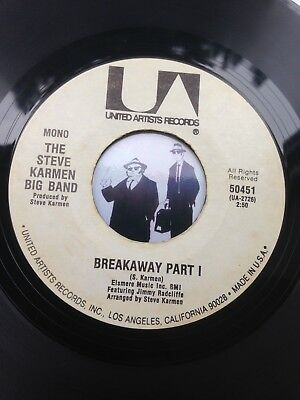 7'' The Steve Karmen Big Band Breakaway On United Artists In VG (MOD, Northern)