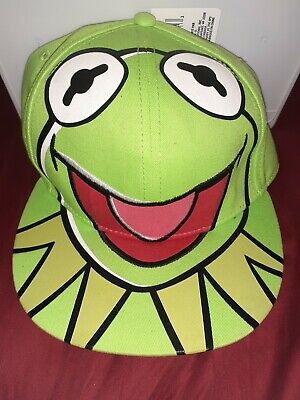 The Muppets Kermit the Frog Fitted Flatbill Cap Hat Excellent Condition