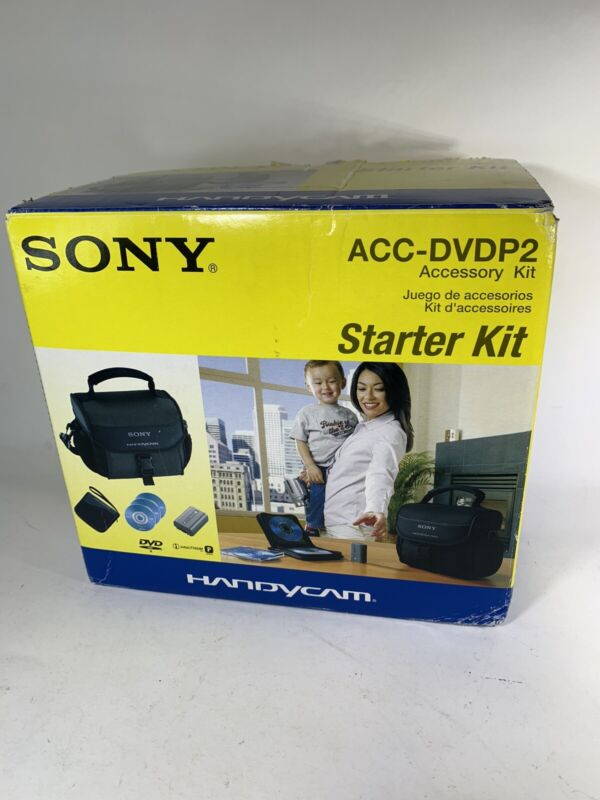 SONY ACC-DVDP2 Accessory Kit LCS-DVDP Soft Black Case & NP-FP50 Battery ONLY EUC