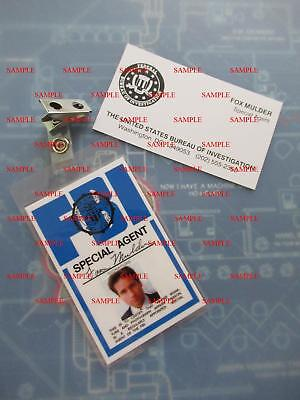 X - Files Fox Mulder's (David Duchovny) FBI ID Badge & Business Card for sale  Douglasville
