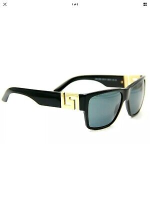 Versace Polarized Sunglasses VE4296 Gloss Black/Gold Grey Lens