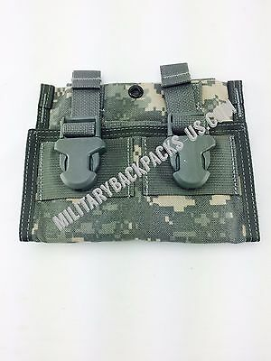 NEW US Military Issued triple ammo pistol 3 mag Pouch clip molle ii acu digital