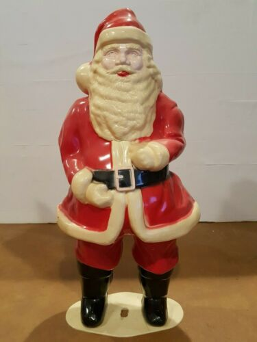 "VINTAGE Christmas SANTA CLAUS 17"" Hard Plastic Light-up Union Products"