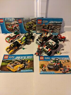 Lego 60053 60055 Monster Truck 60084 Transporter 60113 Rally 60115 4x4 Complete!