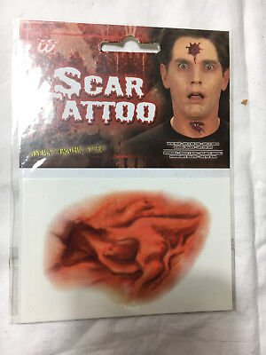 Halloween (10x6cm) Fake Scar Blutige Make-up Zombie Narben-tattoos Horror Wunde