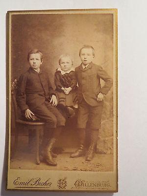Dillenburg - 3 Kinder - Jungen und Kleinkind - Portrait / CDV