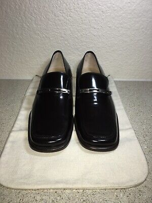 Gucci Authentic Vintage Brown Leather Loafer Womens Shoes - New Size 38C